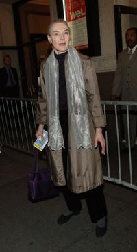 Marian Seldes at the Broadway opening of