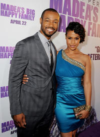 Isaiah Mustafa and Shannon Kane at the California premiere of