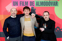 Javier Camara, Raul Arevalo and Carlos Areces at the photocall of