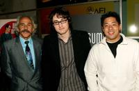 Pepe Serna, director/screenwriter David Boyle and Jayson Watabe at the world premiere of