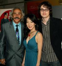 Pepe Serna, Rachel Morihiro and David Boyle at the world premiere of