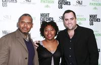 Ronald Simons, Tanya Hamilton and Sean Costello at the premiere of