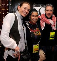 Diane Bell, producer Shari Frilot and producer Christopher Byrne at the Press and Filmmakers Reception during the 2010 Sundance Film Festival.