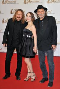 Igor Nikolaev, Agata Gotova and Rade Serbedzija at the premiere of