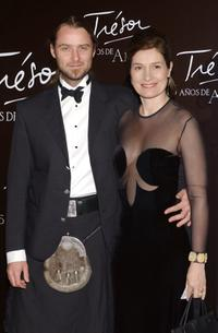 Assumpta Serna and her husband, Scott Cleverdon at the Lancome Gala Dinner.