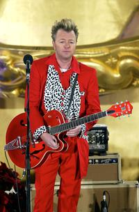 Brian Setzer at the 71st Annual Rockefeller Center Christmas Tree Lighting Ceremony.