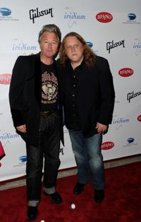 Brian Setzer and Warren Haynes at the after party of Les Paul's 95th Birthday with Special Intimate Performance.