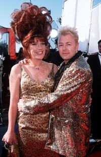 Brian Setzer and his Wife at the 41st Annual Grammy Awards.