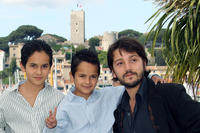 Christopher Ruiz-Esparza, Gerardo Ruiz-Esparza and director Diego Luna at the photocall of