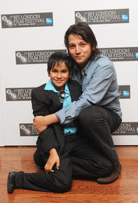 Christopher Ruiz-Esparza and director Diego Luna at the premiere of