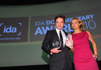 Angus Aynsley and Lucy Walker at the International Documentary Association's 26th Annual Awards in California.