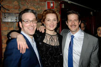 Jeremy Shamos, Francesca Faridany  and Rick Holmes  at the after party of the opening night of