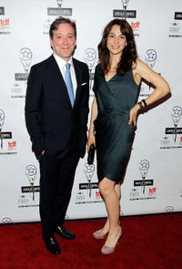 Jeremy Shamos and Annie Parisse at the 27th Annual Lucille Lortel Awards.