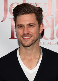Aaron Tveit at the Broadway opening night of
