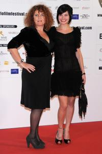 Valerie Mairesse and Delphine Chaneac at the 2009 Monte-Carlo Film Comedy Festival Cocktail party.