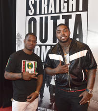 Jason Mitchell and Lil Scrappy at the VIP screening of