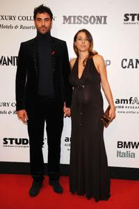 Luca Calvani and Francesca Arena at the amfAR's second Annual Cinema Against AIDS Rome.