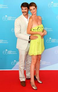 Luca Calvani and Jane Alexander at the Kineo Diamanti al Cinema Awards during the 65th Venice Film Festival.