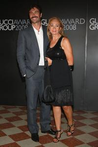 Luca Calvani and Rosetta Sannelli at the Gucci Awards during the 65th Venice Film Festival.