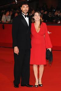 Luca Calvani and Francesca Arena at the premiere of