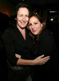 Kathy Najimy and Fiona Shaw at the after party for Kathy and Mo's greatest hits.