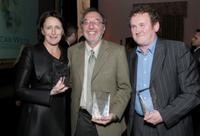 Fiona Shaw, James L Brooks and Colm Meaney at the Third Annual