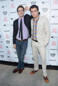 Brian McElhaney and Nick Kocher at the California premiere of