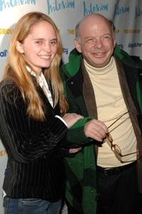Halley Gross and Wallace Shawn at the opening night party of