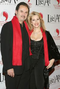 Rhonda Shear and Guest at the Red Party.