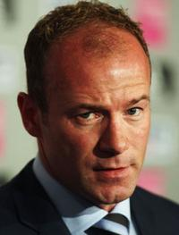 Alan Shearer at the press conference on Shearer's first day as Newcastle United Manager.