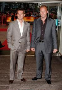 Michael Owen and Alan Shearer at the world premiere of