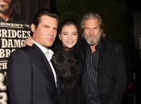 Josh Brolin, Hailee Steinfeld and Jeff Bridges at the screening of