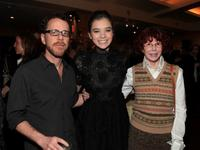 Ethan Coen, Hailee Steinfeld and Kim Darby at the after party of the screening of