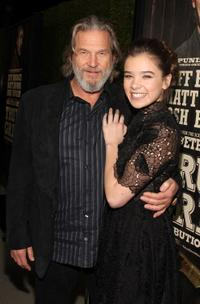 Jeff Bridges and Hailee Steinfeld at the of the screening of