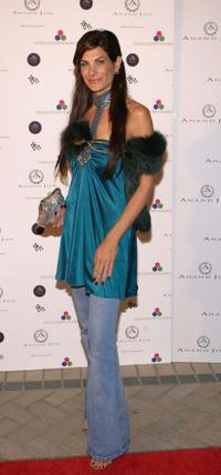 Hilary Shepard at the Indian designer Anand Jons West Coast debut couture fashion show