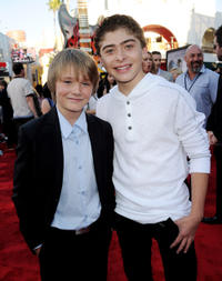 Dakota Goyo and Ryan Ochoa at the California premiere of