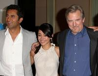 Cliff Curtis, Aimee Garcia and Jamey Sheridan at the NBC Universal's all-star press tour party.