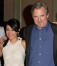 Aimee Garcia and Jamey Sheridan at the NBC Universal's all-star press tour party.