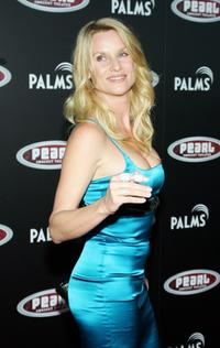 Nicollette Sheridan at the Gwen Stefani concert serving as the grand opening of The Pearl concert theater.
