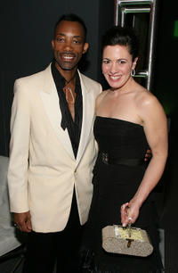 Jacqueline Mazarella and Darrell Johnson at the after party of the 9th Annual Costume Designers Guild Awards in California.