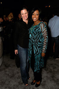Jacqueline Mazarella and Tichina Arnold at the Davante Rodeo Store Opening & Preview of Roberto Cavalli Eyewear in California.