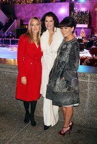 Brooke Shields, Kim Raver and Lindsay Price at the 75th Rockefeller Center Christmas Tree Lighting Ceremony.