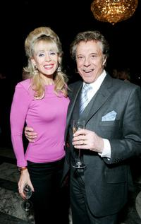 Sally Farmiloe and Lionel Blair at the cocktail party to launch nationwide fundraising tea dances.