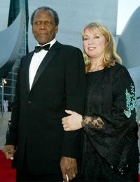 Sidney Poitier and Joanna Shimkus at the Walt Disney Concert Hall opening gala.
