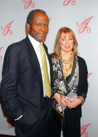 Sidney Poitier and Joanna Shimkus at the Will and Jada Smith party.
