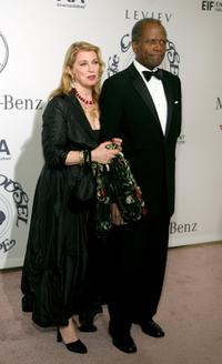 Joanna Shimkus and Sidney Poitier at the 17th Annual Mercedes-Benz Carousel of Hope Ball.