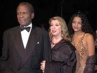 Sidney Poitier, Joanna Shimkus and Sydney Tamiia Poitier at the 32nd Annual National Association for the Advancement of Colored People Image Awards (NAACP).