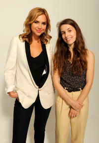 Arielle Kebbel and Sophia Takal at the Tribeca Film Festival 2012 portrait studio.