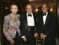 Mica Ertegun, Ahmet Ertegun and Bobby Short at the surprise 80th birthday party short.