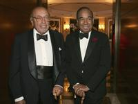 Ahmet Ertegun and Bobby Short at the Surprise 80th Birthday Party For Bobby Short.